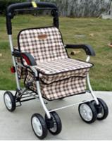 鋁合金銀髮族四輪散步購物車