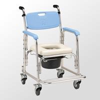 鋁合金有輪洗澡便器椅-加推手-JCS-205