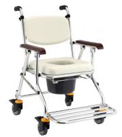 鋁合金可收合有輪洗澡便器椅-JCS-208