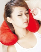 頸枕 - 紅色/寶藍色